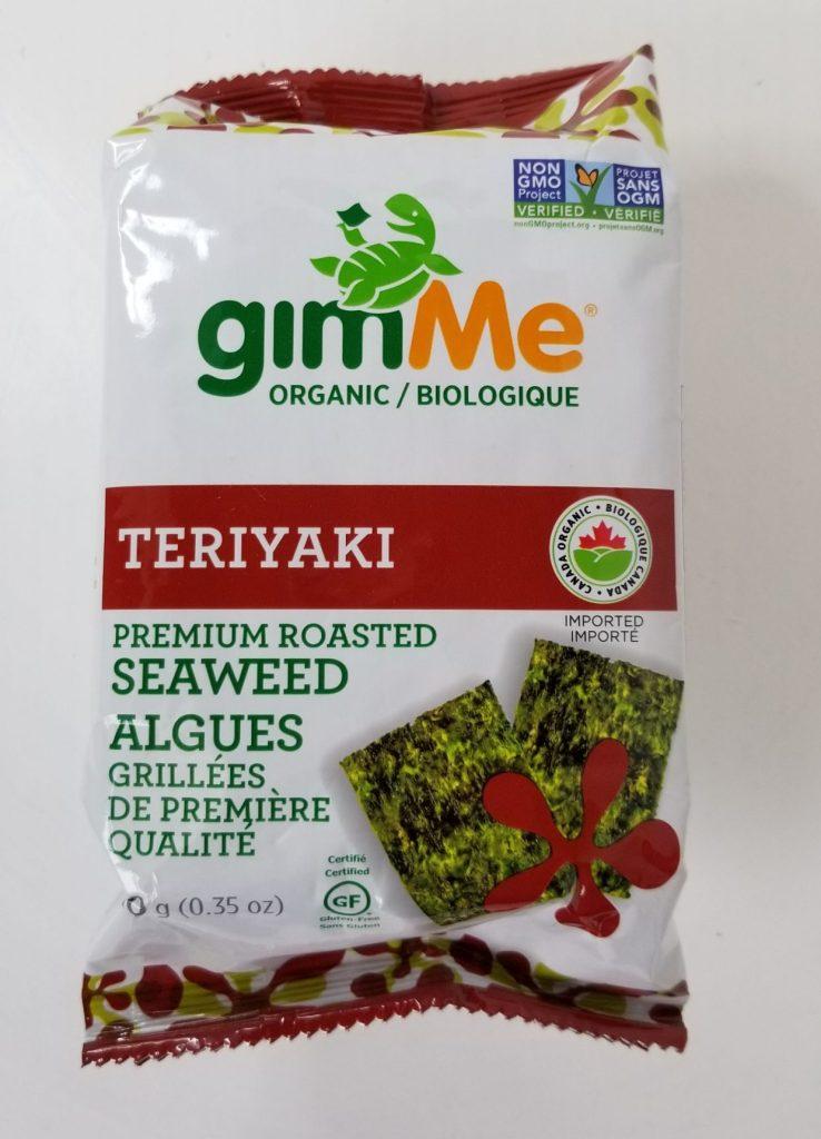 GimMe Teriyaki Premium Organic Seaweed Snack Review.