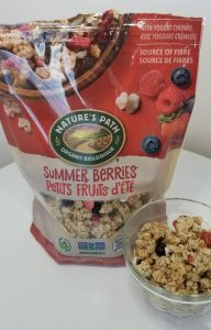 Natures Path Summer Berry Gluten-free Granola.