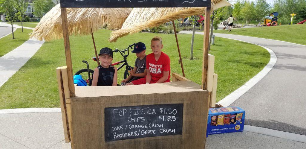 Easton Grant Airdrie young entrepreneur raising money for custom BMX bike!